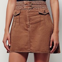 Free People Braided Baby Mini Skirt