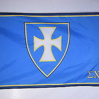 Sigma Chi Blue Field White Cross