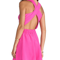 Naven Twisted Circle Dress in Pink