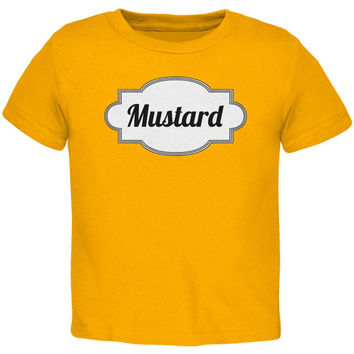 Halloween Mustard Costume Gold Toddler T-Shirt