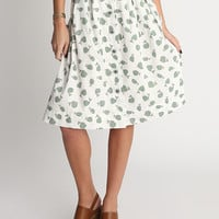 It's Been a Whale Printed Midi Skirt
