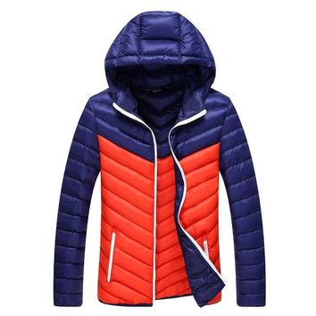 New Men Winter Jacket Fashion Hooded Thermal Down Cotton Parkas Male Casual Hoodies Brand Clothing Warm Coat 4XL
