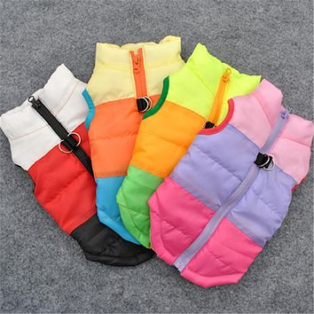 Warm Winter Dog Clothes Pet Coat Jacket Vest Harness Puppy Apparel Dog Sweater Pet Shirt Clothing for Dog 15S1