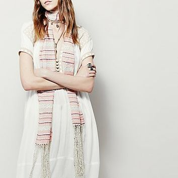 Free People Womens Early Bird Stripe Scarf