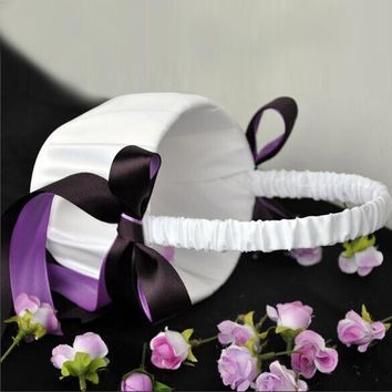 Wedding Ceremony Party Decoration Satin Burlap Bowknot