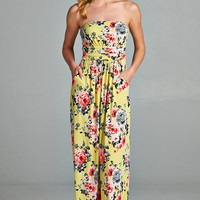 Aloha Maxi Dress - Yellow