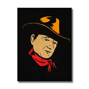John Wayne RETRO  - Giclee Wall Art Canvas Poster print