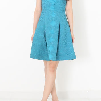 ROMER Bustier Lace Dress in Turquoise