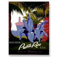 Discover Puerto Rico ~ Vintage Travel Post Cards