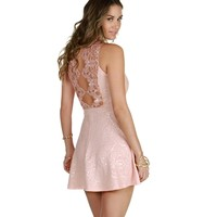 Pink And Gold Bliss Skater Dress
