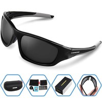 Outdoor Polarized Sports Sunglasses For Cycling Running Fishing Golf TR90 Unbreakable Frame  Sport Eyewear Goggles
