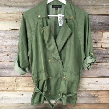 LOOSE TRENCH - MILITARY GREEN