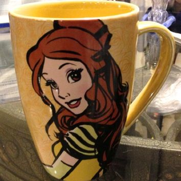 Disney Parks Exclusive Belle Beauty and the Beast Mornings Coffee Mug