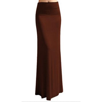 Bohemian Style Autumn Casual Pencil Maxi Skirt Women Bandage Pleated Winter Long Cotton Skirts