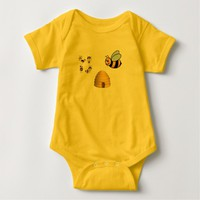 BABY JERSEY BODYSUIT WITH SNAP CLOSURE==BEES
