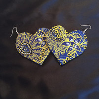 African Earrings- Heart of Hearts