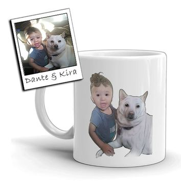 Custom Illustrated Baby & Pet Coffee & Tea Mugs by Tote Tails