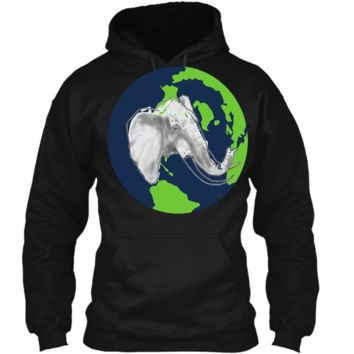 Elephant T-Shirt - Earth Day Is Everyday Shirt Pullover Hoodie 8 oz