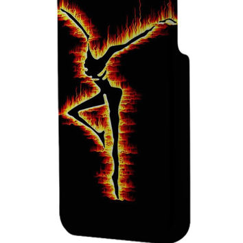 Best 3D Full Wrap Phone Case - Hard (PC) Cover with DMB Fire Dancer Design