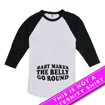 Pregnancy Announcement T Shirt Maternity Clothes Pregnancy Clothing New Baby Shirt Expecting Mom Gift American Apparel Unisex Raglan MAT-621