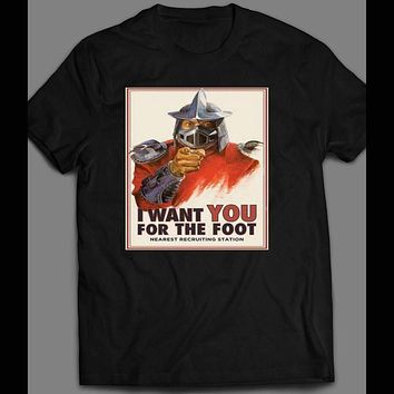 "TMNT SHREDDER ""I WANT YOU FOR THE FOOT"" CAMPAIGN POSTER SHIRT"