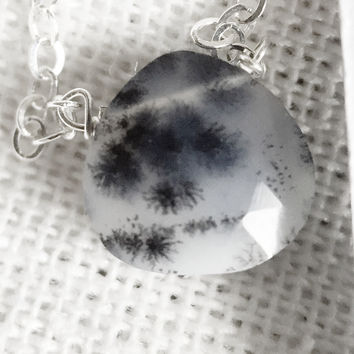 "17 - Dendritic Opal 18"" Sterling Chain - Flash Sale Pricing"