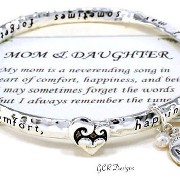Mother and Daughter Twisted Sterling Silver Bracelet