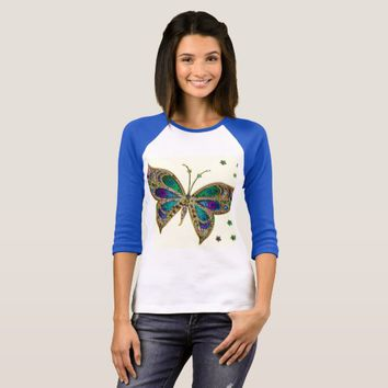 Purple Butterfly Fibro Awareness Shirt