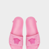 Versace Baroque Medusa Slides for Women | US Online Store
