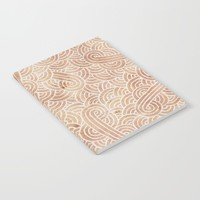 Iced coffee and white swirls doodles Notebook by Savousepate