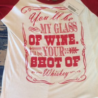Shot Of Whiskey Top - Red/White