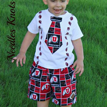 Boys Utah Utes Football Outfit, Baby Boys Coming Home Outfit, Newborn Clothes