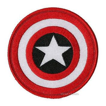 Licensed cool Marvel Avengers Captain America Circular Shield Embroidered IRON ON Patch Badge