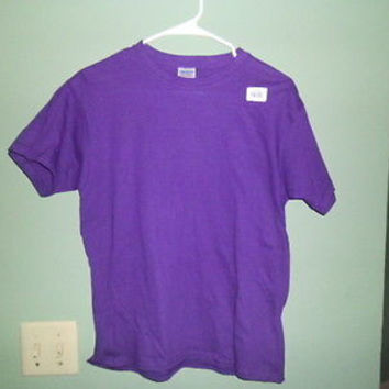 GILDON EVERYDAY 100% COTTON YOUTH PURPLE T-SHIRTS size L youth
