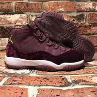 [ Free  Shipping ]Nike Air Jordan 11 Velvet Heiress Retro XI Night Maroon Basketball Sneaker