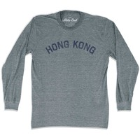 Hong Kong City Vintage Long Sleeve T-Shirt