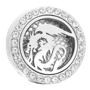 Aromatherapy Dragon 18mm Snap Buttons Perfume Locket Magnet Stainless Steel Essential Oil Diffuser Snap Button Bracelet Jewelry