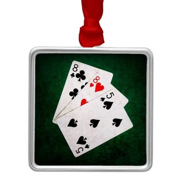 Blackjack 21 point - Eight, Eight, Five Metal Ornament
