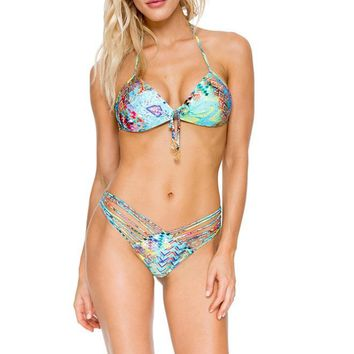 Cayo Hueso Push Up Bandeau Bikini Set