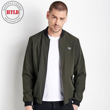 Trendy Seckill HTLB New Brand Men's Spring Elastic Casual MA-1 Jackets Coats Men AT_94_13