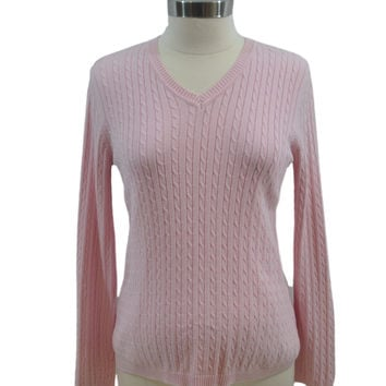 Pink Cable Long Sleeve Sweater by Maternity*