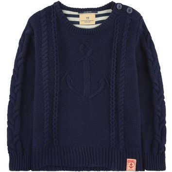 MDIGMS9 Scotch & Soda Boys Knit Sailor Sweater