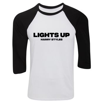 "Harry Styles ""Lights Up"" Baseball Tee"