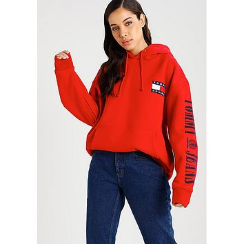 """ Tommy Hilfiger "" Women Men Hot Hoodie Cute Sweater"
