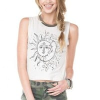 Brandy ♥ Melville |  Agathe Sun and Moon Tank - Graphic Tops - Clothing