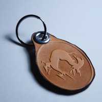 Metal Gear Solid Foxhound Leather Keychain