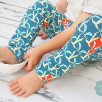 Unisex leggings, fox leggings, baby leggings, baby pants, baby clothing, unisex baby, girls leggings, boys leggings, girls clothing