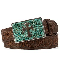 Nocona Embossed Cross Belt