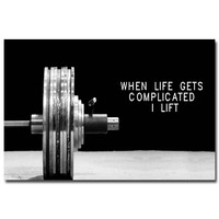 NICOLESHENTING Bodybuilding Motivational Art Silk Poster 12x18 24x36inch Fitness Exercise Wall Pictures Gym Room 017