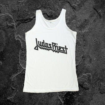 JUDAS PRIEST Shirt Tank Top Heavy Meal Women Tshirt Size S, M, L